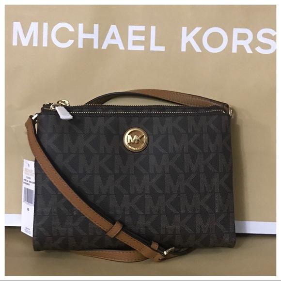 c4161703635e Michael Kors Bags | Nwt Mk Fulton Ew Crossbody Bag Brownacorn | Poshmark